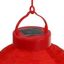 Lampion LED z kolorem słonecznym 20 cm czerwony