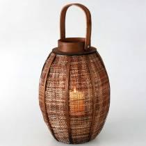 Pleciony lampion, dekoracja świec, drewniany lampion z uchwytem Ø25cm H34,5cm
