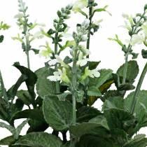 Sztuczna lawenda doniczkowa, deco lawenda, kwiat jedwabny w kolorze białym