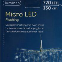 Kaskada świetlna Micro-LED biała zimna 720s H130cm