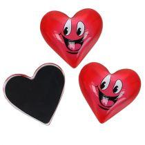 Magnesowe serce Smeili czerwone 4cm 6szt
