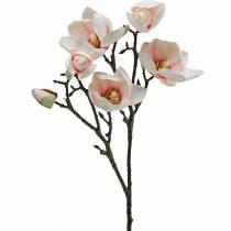 Gałąź magnolii różowe sztuczne kwiaty jedwabiu magnolii
