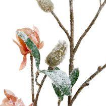 Gałąź magnolii jasnoróżowa L 82cm