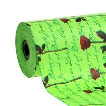 Papier mankietowy 25cm 100m Green Rose