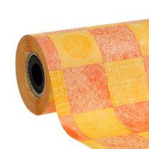 Papier mankietowy żółto-pomarańczowy 25cm 100m