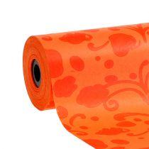 Papier mankietowy pomarańczowy z wzorem 25cm 100m
