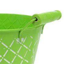 Wiadro metalowe zielone Ø16cm W14cm