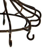 Metalowa korona do powieszenia brązowa