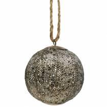 Kula metalowa antyczna do zawieszenia Ø10,5cm