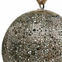 Kula metalowa antyczna do zawieszenia Ø13,5cm
