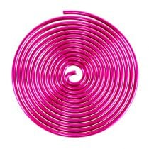 Ślimak Metalowy Drut Ślimak Różowy 2mm 120cm 2szt