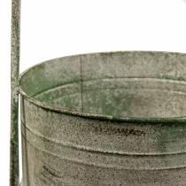 Metalowy stojak z doniczkami szary, zielony H68cm
