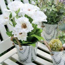Metalowa doniczka do sadzenia, doniczka z uchwytami, doniczka z motywem kwiatowym Ø18cm