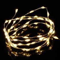Micro LED Fairy Lights z bateriami Warm White Timer 60s 94cm