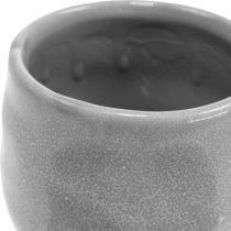 Doniczka ceramiczna, mini doniczka do roślin, dekoracja ceramiczna, wzór fali lampionu Ø8cm 6szt.