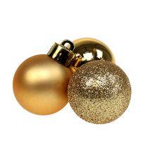 Mini Christmas Ball Gold Ø3cm 14szt