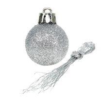 Mini Christmas Ball Silver Ø3cm 14szt