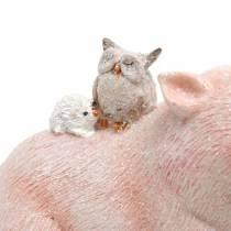 Zestaw figurek dekoracyjnych świnka z przyjaciółmi zwierząt 9,3cm×7,5/8,5cm 2szt.