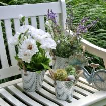 Mak w doniczce Biały Jedwabne kwiaty Dekoracja kwiatowa