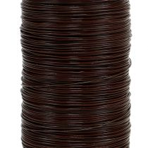 Drut mirtowy brązowy 0,35mm 100g