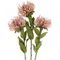 Autumn Flower Pincushion Artificial Pink Leucospermum 73cm 3szt.