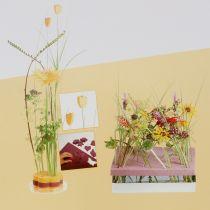 Pianka korkowa designerska talerze masa korkowa żółta 34,5cm × 34,5cm 3szt.