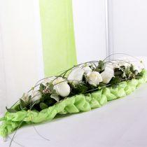 Dekoracja stołu z pianki w kształcie cegiełek zielona 22cm x 7cm x 5cm 10szt.