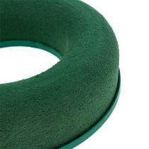 Wianek z pianki w kształcie pierścienia zielony H4,5cm Ø17cm 6szt.