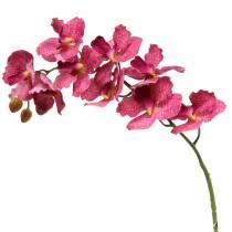 Sztuczna gałązka orchidei różowa H83cm