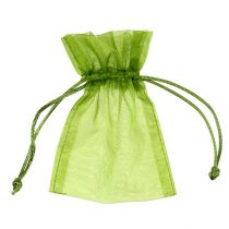 Woreczek z organzy zielony 12cm x 9cm 10szt.