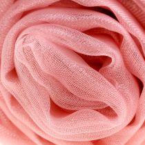 Tkanina dekoracyjna organza stary róż 150cm x 300cm
