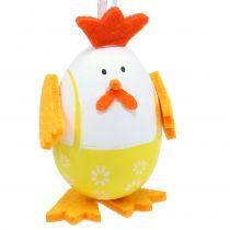 Jajko malowane jako kogut do zawieszenia w mixie 7,5cm 12szt.