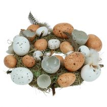 Wianek Wielkanocny z Jajkami Ø24cm Nature, Biały