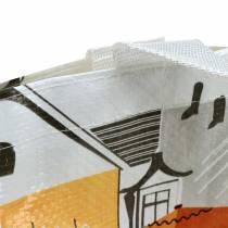Torba na zakupy z uchwytami Bella Vita plastikowa 32×21×26cm