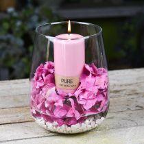 PURE Pillar Candle 130/70 Różowa Świeca Dekoracyjna Zrównoważony Naturalny Wosk