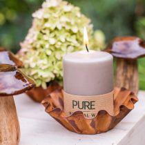 Pure Pillar Candle Brown 90/70 świeca zrównoważona stearyna i naturalny wosk rzepakowy