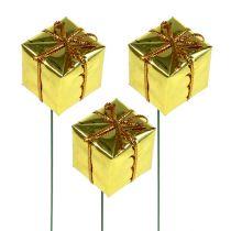 Paczuszki 2,5cm na druciku złote 60szt
