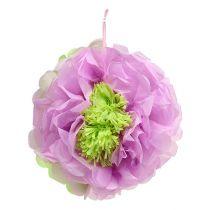Papierowy kwiat Ø28cm do zawieszenia Zielono-fioletowy