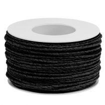 Sznurek papierowy owijany Ø2mm 100m czarny