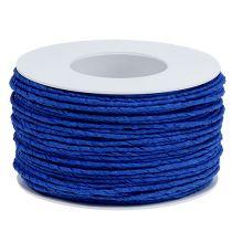 Sznurek papierowy owijany Ø2mm 100m niebieski