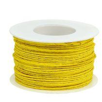 Sznurek papierowy owijany Ø2mm 100m żółty