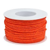 Sznurek papierowy owijany Ø2mm 100m pomarańczowy