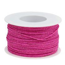 Sznurek papierowy owijany Ø2mm 100m różowy