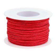 Sznurek papierowy owijany Ø2mm 100m czerwony