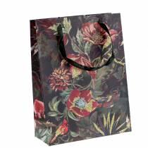 Torebka prezentowa Kwiaty Złota 18cm x 8cm H24cm