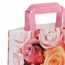 Torba papierowa róża 22cm x 10cm x 28cm 25szt.