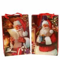Zestaw torebek na prezenty Motyw świąteczny Santa Red 20cm × 30cm × 8cm