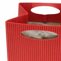 Torebka papierowa doniczka kwiatowa czerwona 12cm 12szt