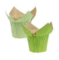 Planter papierowy Ø10cm H8cm Zielony 8szt.