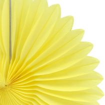 Dekoracja strony plaster miodu papierowy kwiat żółty Ø20cm 3szt